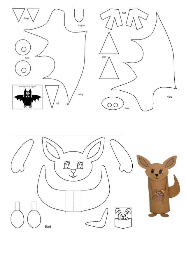 Animais em rolos de papel