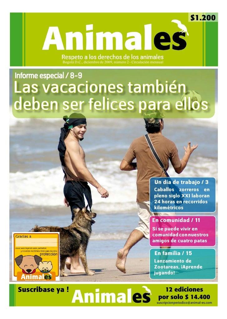 $1.200               Bogotá D.C., diciembre de 2009, número 2 - Circulación mensualInforme especial / 8-9Las vacaciones ta...