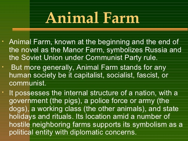 symbolism of pigs in animal farm The happy mealthe meeting between the pigs and humans at the end of animal  farm alludes to the tehran conference of 1943 and the beginning of the cold.