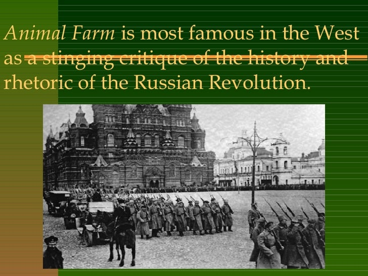 """animal farm society symbols and history History lessons: grades 9-12  one of the main ideas in george orwell's """"animal farm is how each event in it parallels an event in the russian revolution ."""