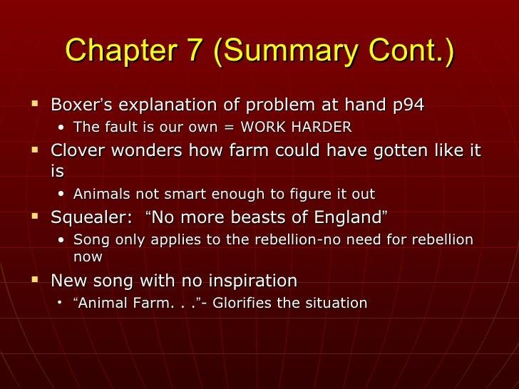 animal farm chapter 1 summary pdf