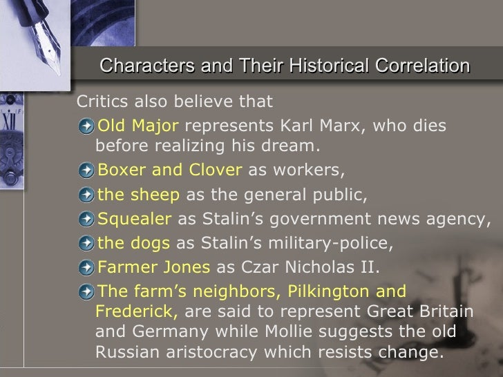 the relation between the dictatorship of stalin and the character of napoleon in animal farm a novel Animal farm - napoleon and boxer act in ways to destroy freedom and eq the novel, animal farm, was written by george orwell and published in 1946 george orwell's animal farm is a political satire of a totalitarian society ruled by a mighty dictatorship, in all probability an allegory for the events surrounding the russian revolution of 1917.