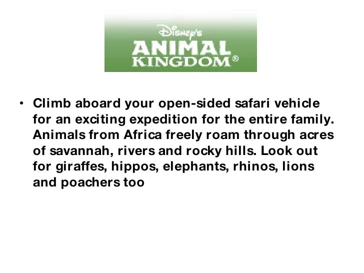 <ul><li>Climb aboard your open-sided safari vehicle for an exciting expedition for the entire family. Animals from Africa ...