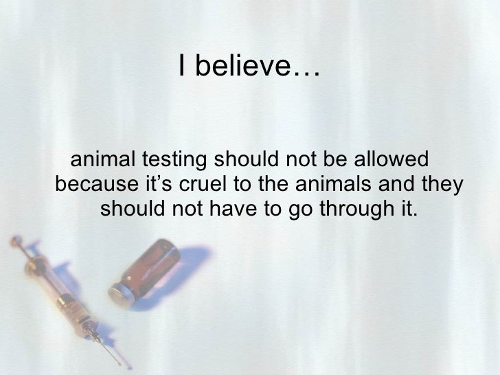 should animal experimentation be permitted essay