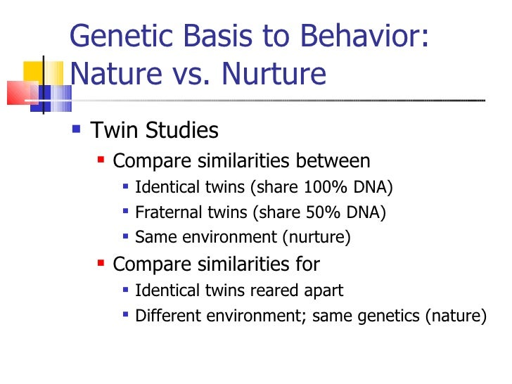 Identical And Fraternal Twins Nature Vs Nurture