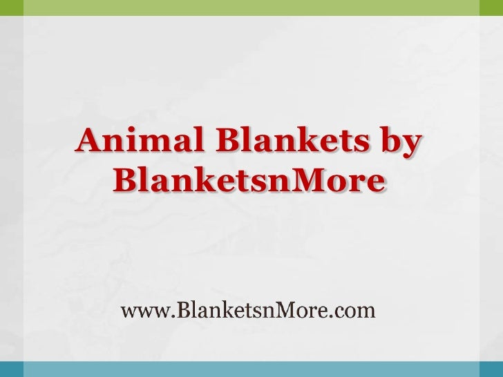 Animal Blankets by BlanketsnMore