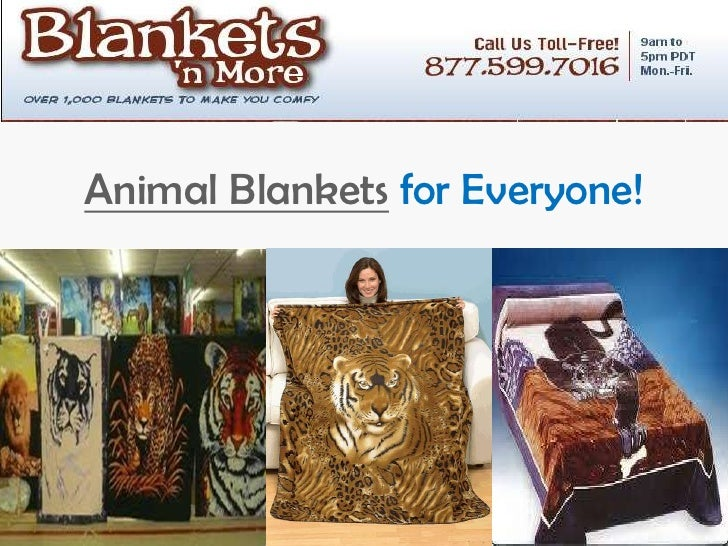 Animal Blankets for Everyone!