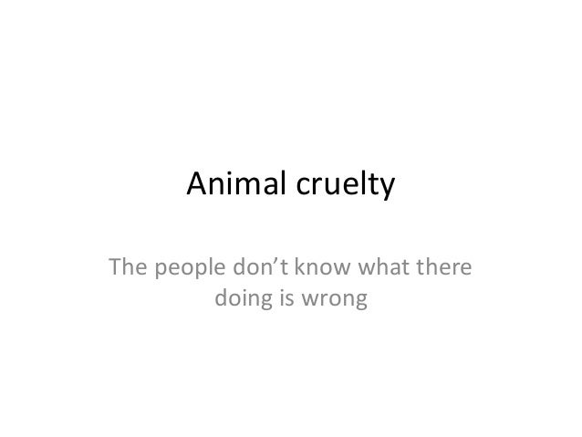 Animal crueltyThe people don't know what there         doing is wrong
