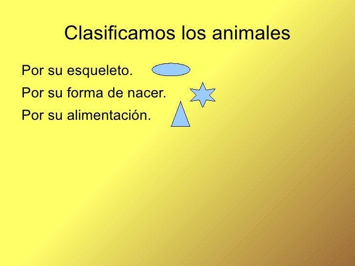 Clasificamos los animales <ul><li>Por su esqueleto.
