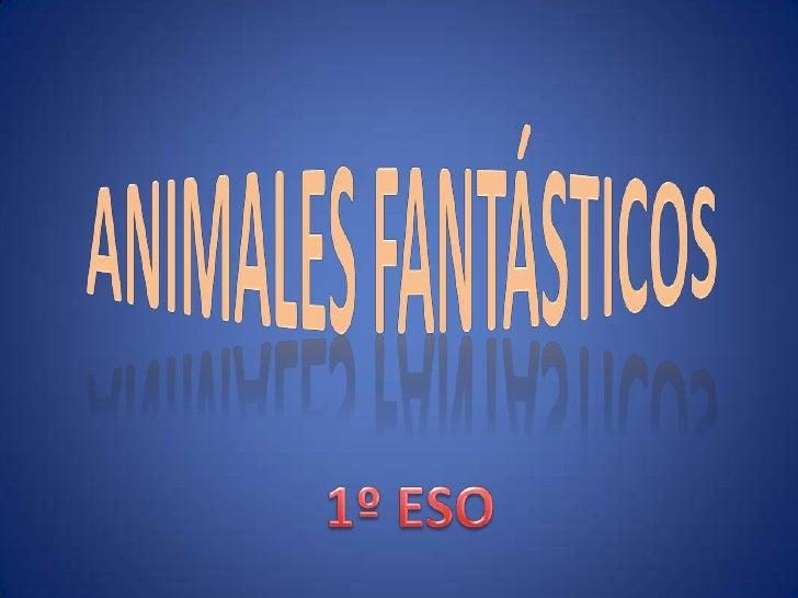 Animalesfantásticos<br />1º ESO<br />
