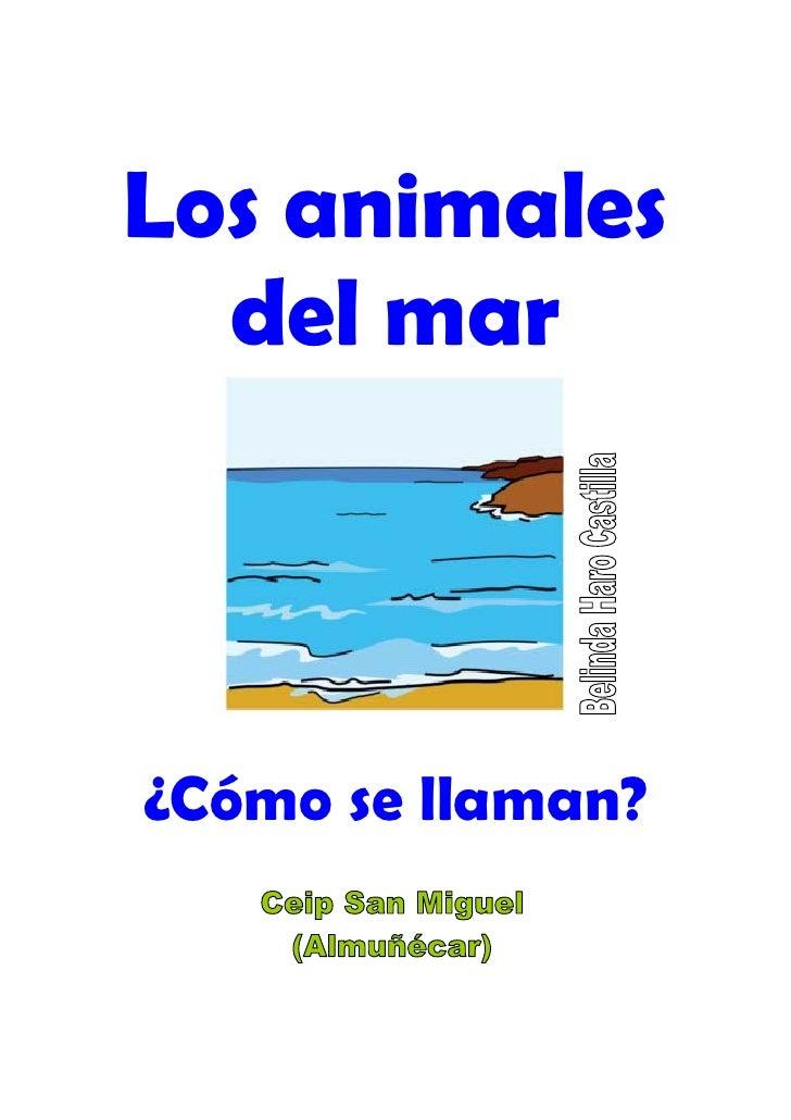 Animales del mar nombre for Nombre del sillon de los psicologos