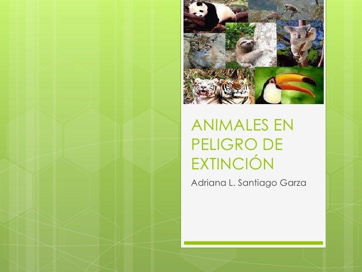 ANIMALES ENPELIGRO DEEXTINCIÓNAdriana L. Santiago Garza