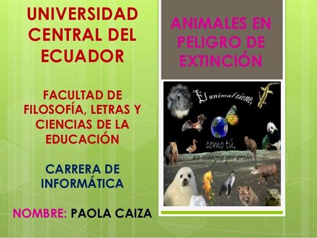 UNIVERSIDAD CENTRAL DEL ECUADOR FACULTAD DE FILOSOFÍA, LETRAS Y CIENCIAS DE LA EDUCACIÓN CARRERA DE INFORMÁTICA NOMBRE: PA...
