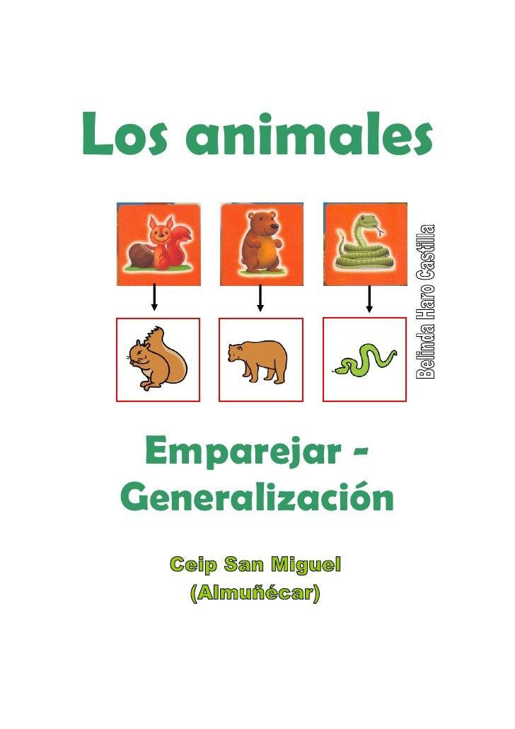 Los animales      Emparejar -  Generalización