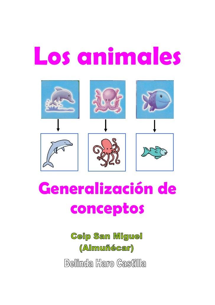 Los animales    Generalización de    conceptos