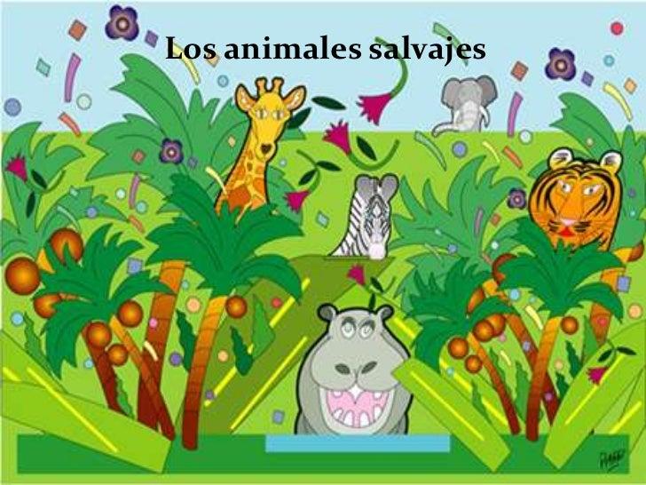 Los animales salvajes<br />
