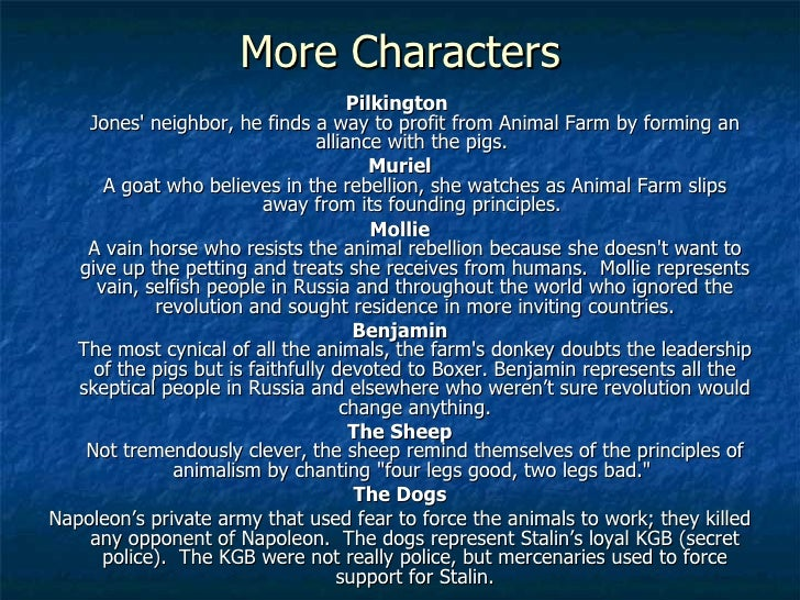 book report on animal farm Read this music and movies book/movie report and over 88,000 other research documents animal farm - movie animal farm is a movie that uses animals to make fun of humans the movie starts out with a.