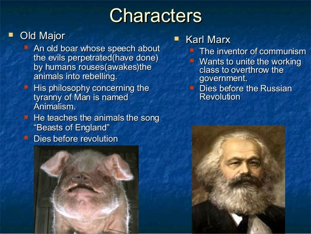 a comparison of animalism in orwells animal farm and marxism of russian evolution Animal farm by george orwell characters, items, and events found in george orwells book, animal farm, can be compared to similar characters, items, and events found in marxism and the 1917 russian revolution.