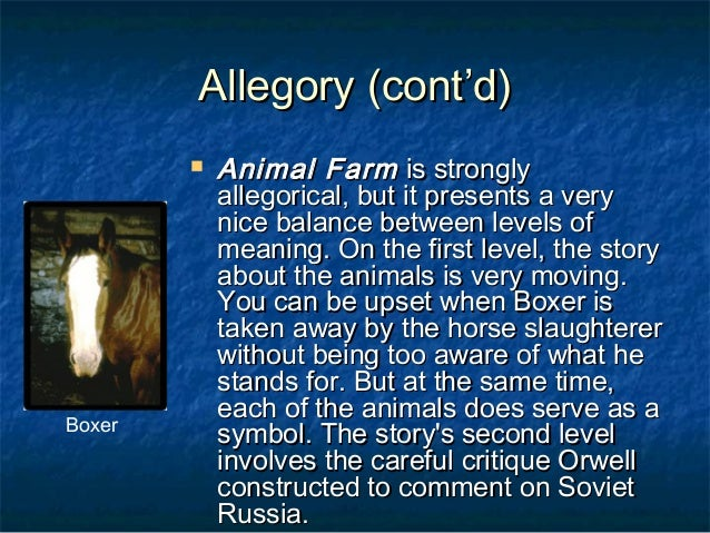 the true meaning of animal farm Perhaps the first thing to do in order to understand the true meaning of george orwell's novella is to read some background material on the author, who was originally a socialist, but he grew to.