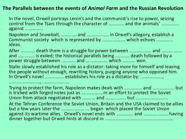 the role of the pigs in the novel animal farm by george orwell essay The novel animal farm, by george orwell, is an allegory portraying the evils and pitfalls of a totalitarian government  squealer's role in animal farm essay .