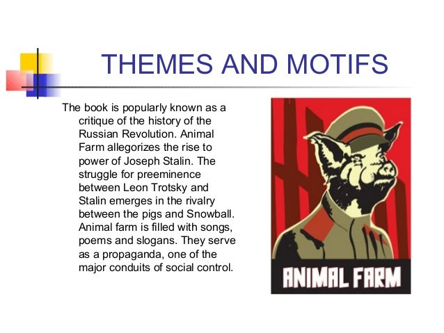 a comparison of russia and stalin to orwells animal farm
