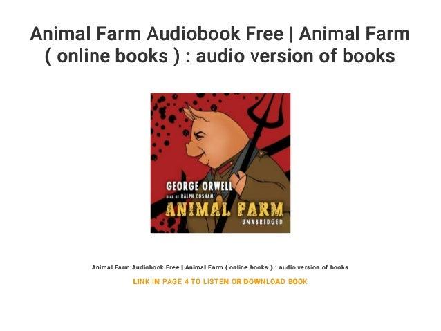 Animal Farm Audiobook Free Animal Farm Online Books Audio Ver