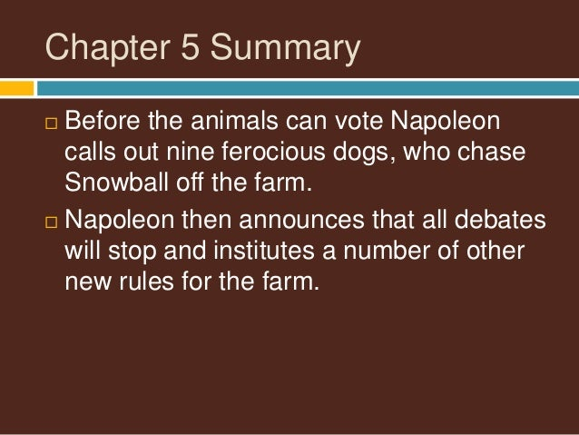 animal farm napolean vs snowball Category: animal farm essays title: the relationship between snowball and napoleon in animal farm.