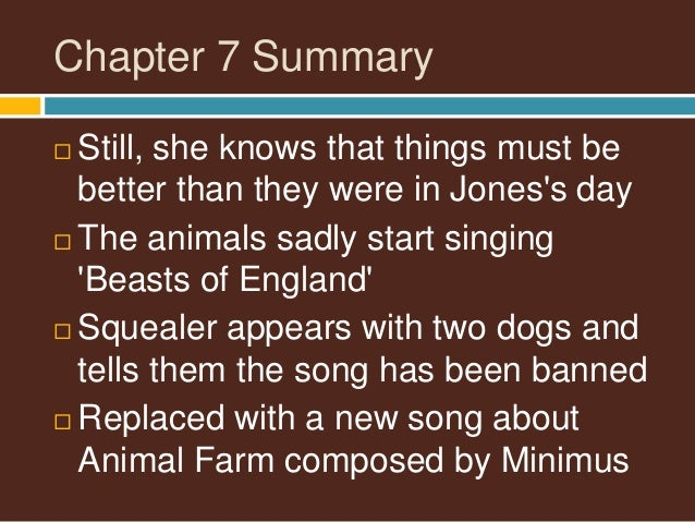 animal farm chapter 8 summary