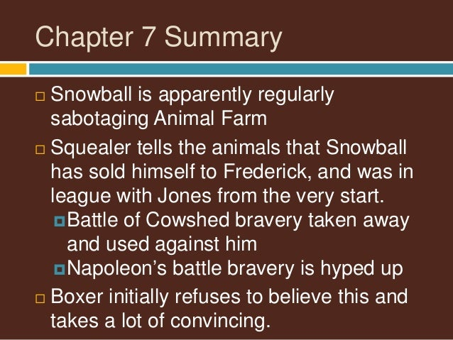 napoleon animal farm notes chapter by A revision guide 'animal farm' revision guide  • chapter 2, page 16: napoleon tells the animals to follow snowball to the field to do the harvest.