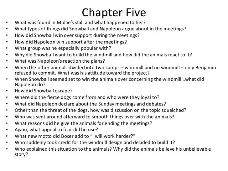 animal farm study questions chapter 6 10 essay Studysynccom page 2 lesson plan: animal farm background (10 minutes  animal farm c write (w9-101-2, 4-6,  to one of the following questions in an essay of.