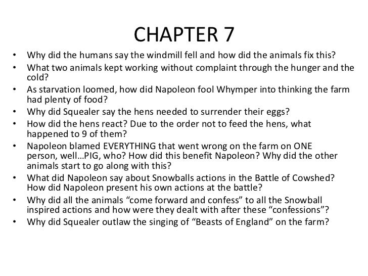 An analysis of the chapters in the animal farm a novella by