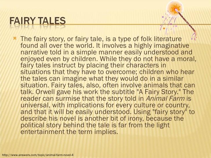 Animal farm fairy story essay definition