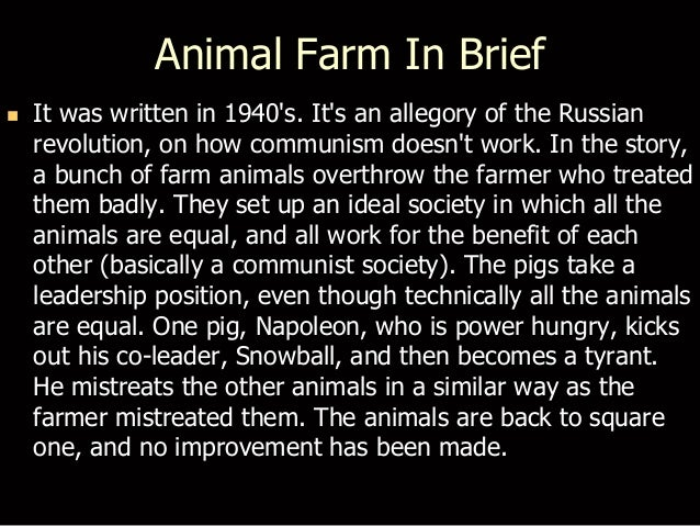 Animal farm movie summary
