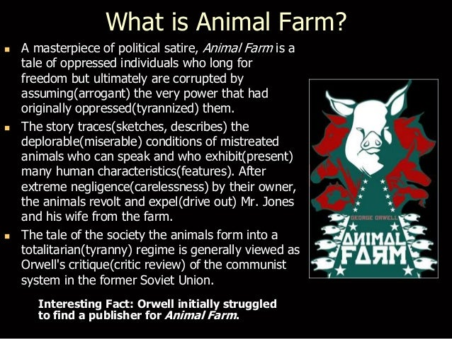 summary and comment on animal farm Book review: animal farm by george orwell  his other novel 1984 also revolves around similar themes but animal farm attracts more  sign up to comment,.