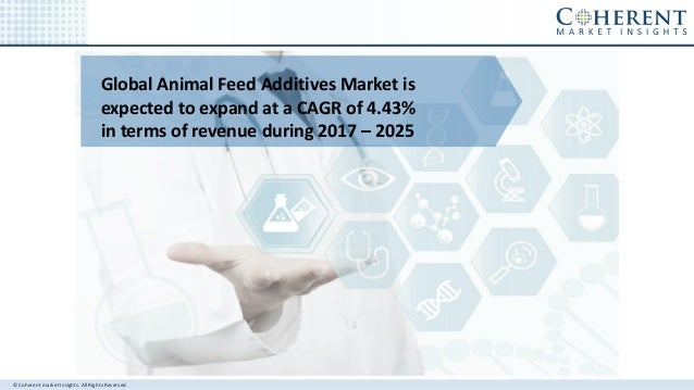 © Coherent market Insights. All Rights Reserved Global Animal Feed Additives Market is expected to expand at a CAGR of 4.4...