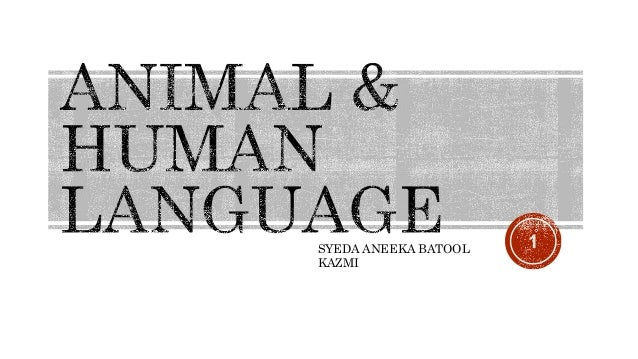 human vs animal language Get an answer for 'what are the differences between human and animal communication' and find homework help for other linguistics questions at enotes.