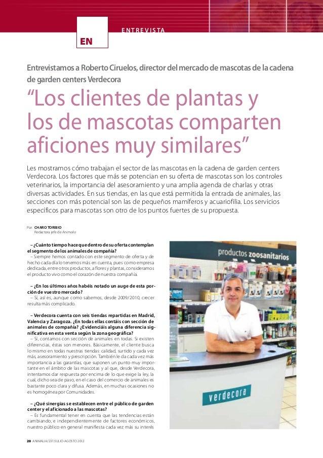 E N T R E V I S TA                                  ENEntrevistamos a Roberto Ciruelos, director del mercado de mascotas d...