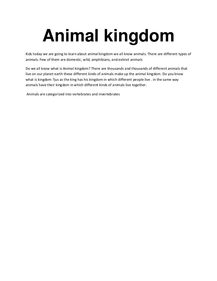 Animal kingdom<br />Kids today we are going to learn about animal kingdom we all know animals. There are different types o...