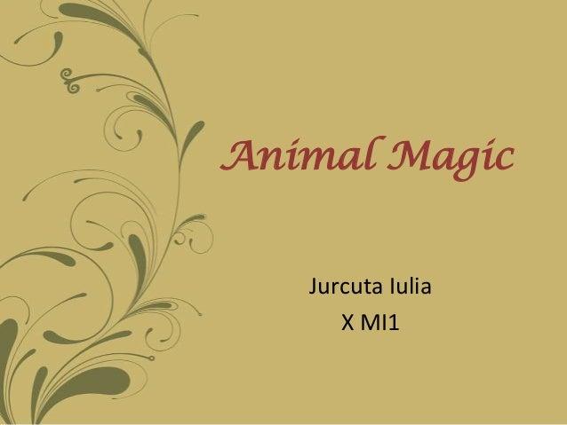 Animal Magic   Jurcuta Iulia      X MI1