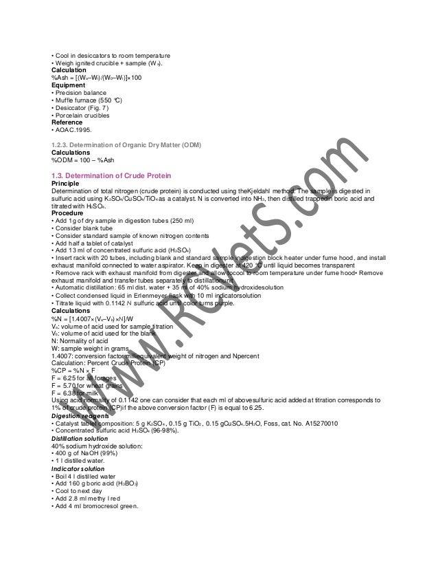 Animal Nutrition Lab Manual 1