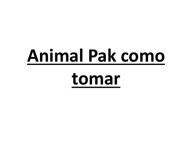 Animal Pak como tomar