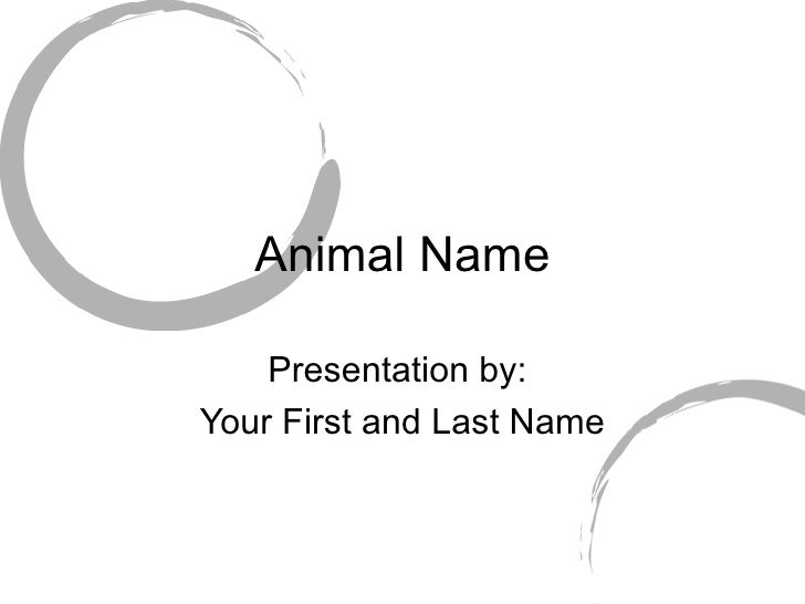 Animal Name Presentation by:  Your First and Last Name