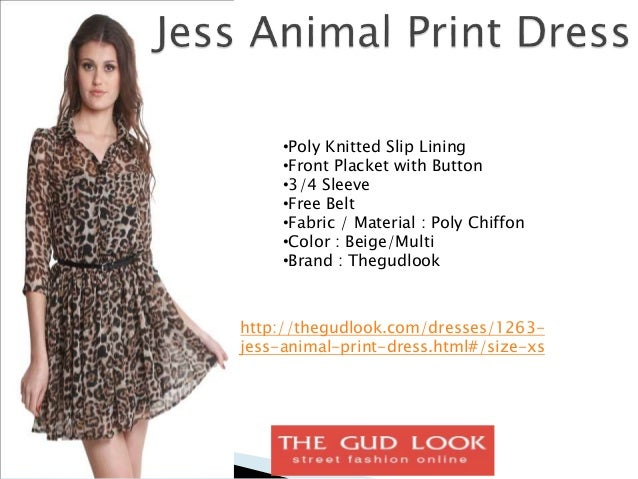 Animal printed dresses for women online in india