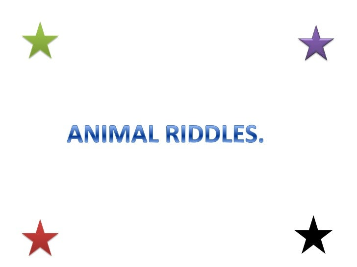 ANIMAL RIDDLES.<br />