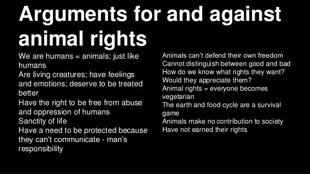 Do animals deserve rights essay