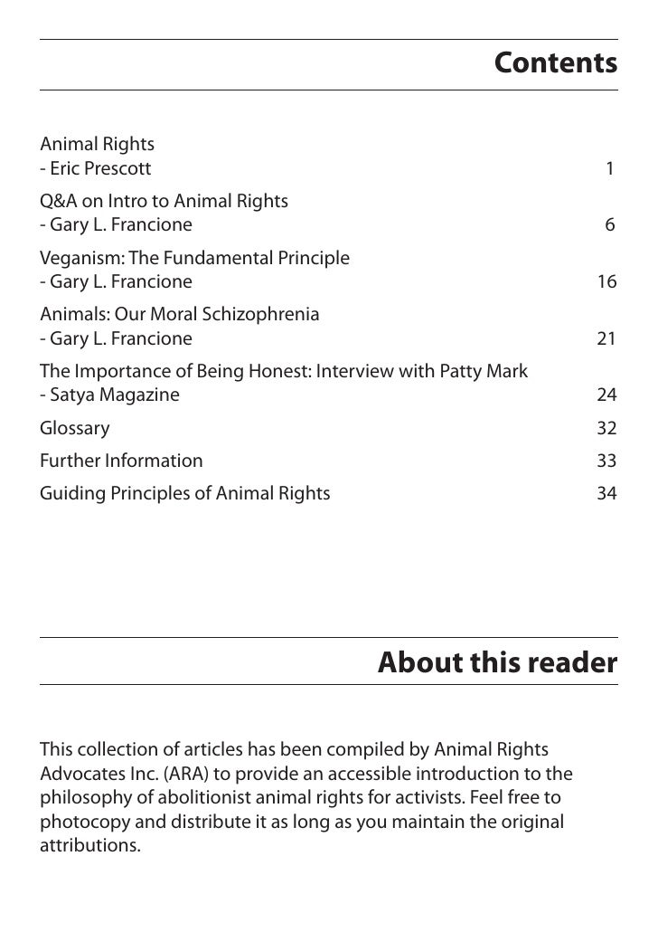 an introduction to the importance of animal rights Introduction to animal rights in this book additional information introduction to animal rights gary l francione  an animal's right to live free of suffering should be just as.