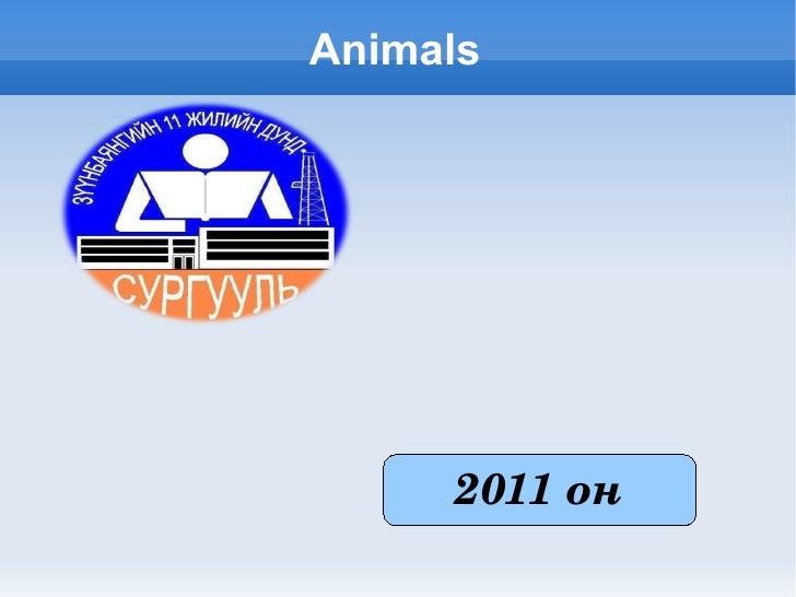 Animals           2011он