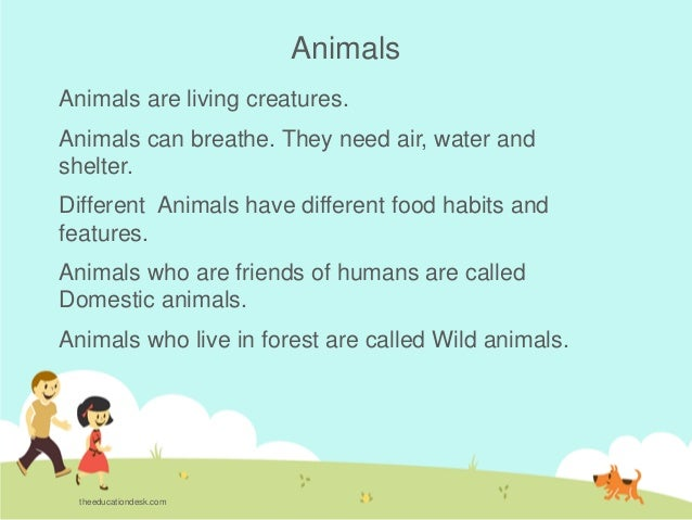 Environmental Science (EVS) : Animals (Class II)