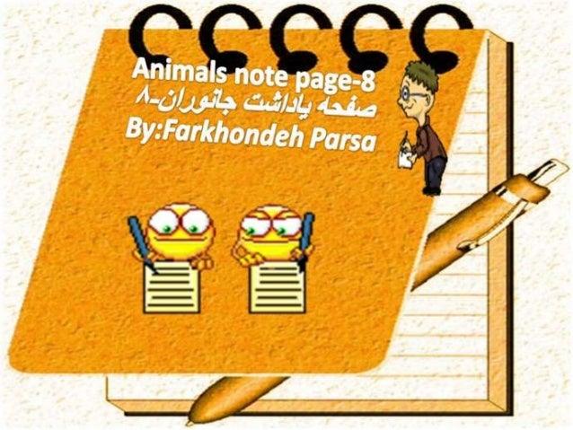 Animals notepage-8-9