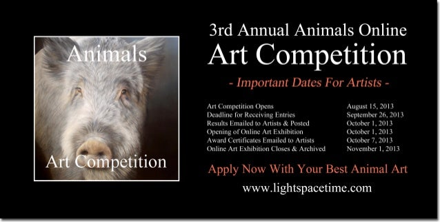 Animals 2013 Online Art Competition Event Poster